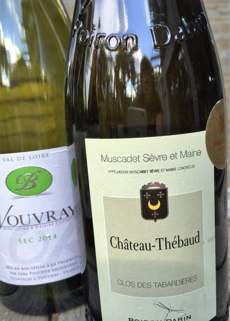 Flaschen Vouvray und Muscadet